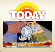 Peeky Toes were featured on the Today Show